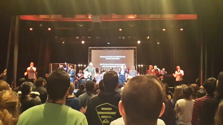 Singing time- Hilsong style! Felt a bit weird taking pictures during service tbh and only did it in Hillsong (probably because of dim lights)