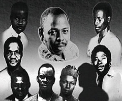 The Ogoni Nine (Saro-Wiwa in the middle) from: http://justiceinnigerianow.org/uncategorized/police-open-fire-at-ogoni-vigil-in-port-harcourt