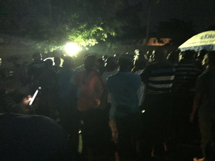 Large crowds at night